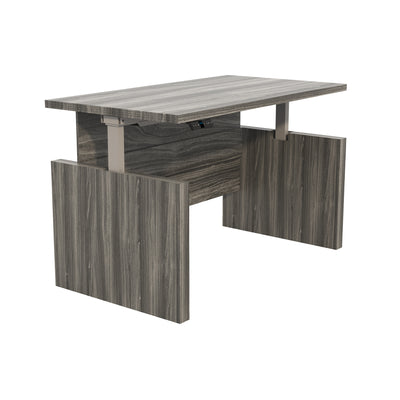 Modern Height Adjustable Desk in Gray