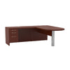 L-shaped Desk with Pedestal and Peninsula in Cherry