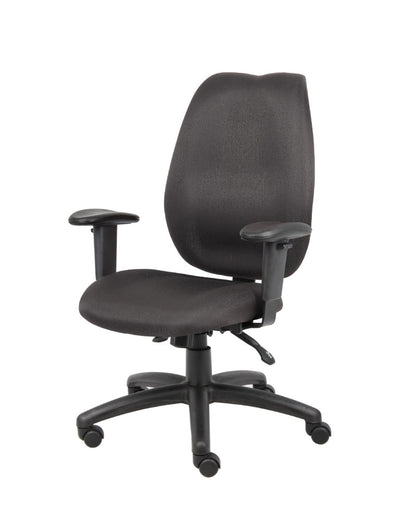 Black High Back Office Chair w/ Waterfall Seat