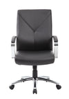 Black Leather Y-Design Office Chair