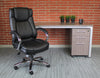 Superior Black Leather Executive Office Chair