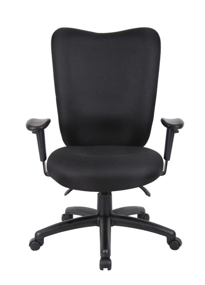 Elegantly Styled Black High Back Office Chair w/ Waterfall Seat