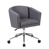Stylish Grey Faux Leather Office Chair w/ Curved Back