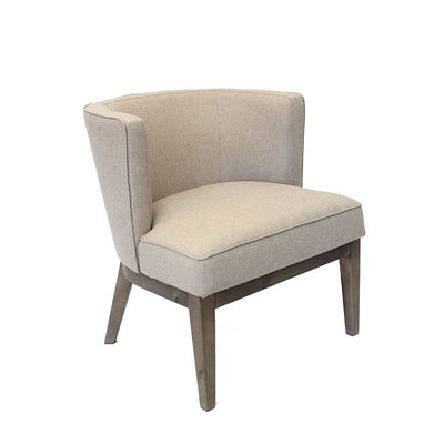 Beige Linen Extra Large Padded Guest Seat