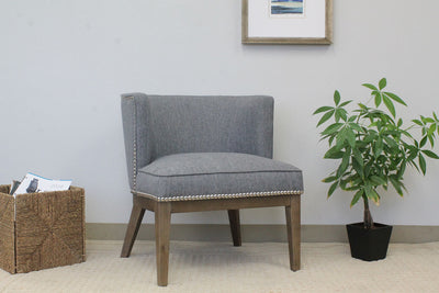 Medium Grey Linen Extra Large Padded Guest Seat
