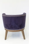 Purple Velvet Extra Large Padded Guest Seat