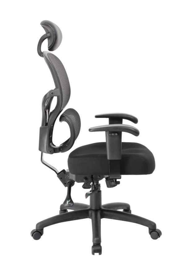 Pleasant Classic Ergonomic Black Mesh Office Chair W Headrest From Boss Home Interior And Landscaping Ologienasavecom