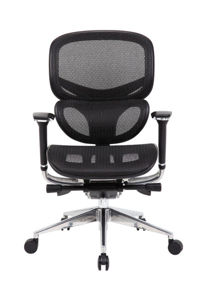 Robust Black Mesh Rolling Office Chair w/ Chrome Base