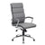 Grey Faux Leather Office Chair w/ Padded Back & Seat