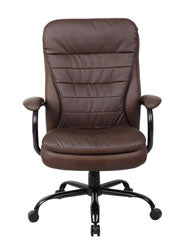 Sturdy Padded Brown Office Chair for Big & Tall
