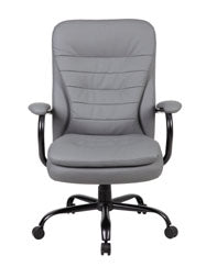 Sturdy Padded Grey Office Chair for Big & Tall