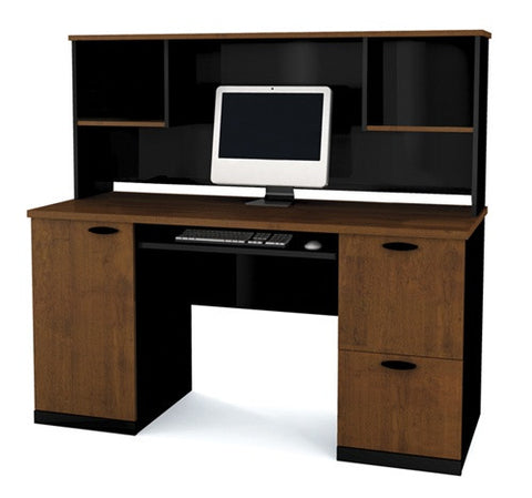 Hampton Collection Two Tone Desk with Included Hutch
