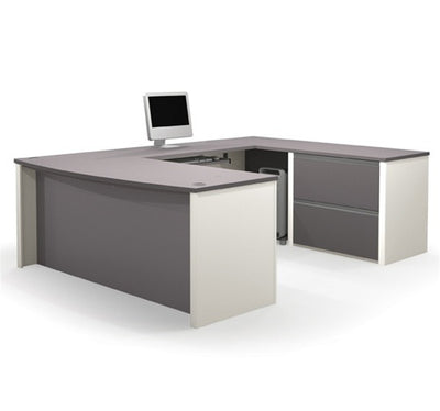 Two Tone Connexion Series U-shaped Workstation