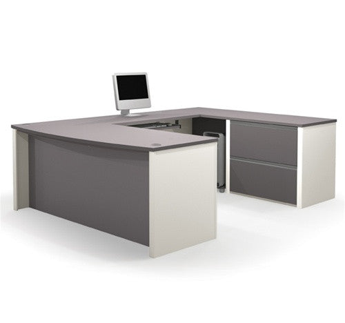 Two Tone Connexion Series U Shaped Workstation