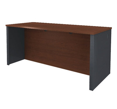 Prestige Collection Executive Desk in Bordeaux & Graphite