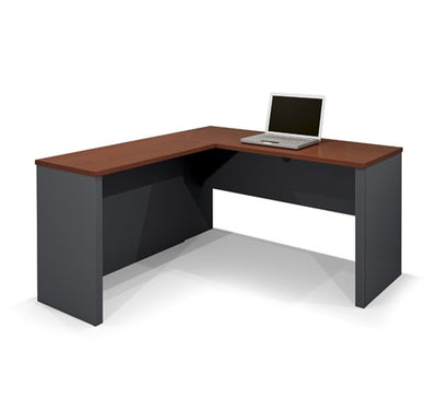 Bordeaux & Graphite Modern Corner Desk