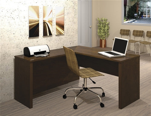 Prestige Chocolate Corner Desk with Optional Lateral File and Bookcase