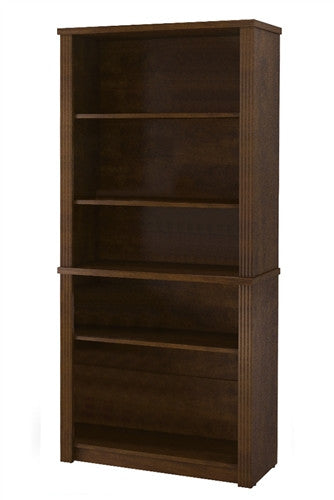 "Chocolate Modern 71"" Executive Desk with Dual Half Pedestals"