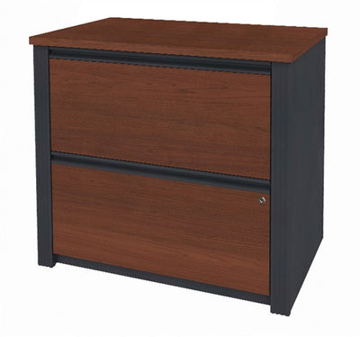 U-shaped Desk with Hutch in Chocolate or Bordeaux & Graphite