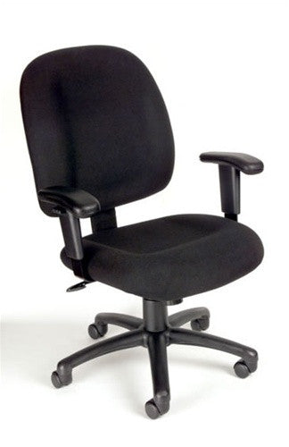Ergonomic Padded Chenille Office Chair with Armrests & Color Options