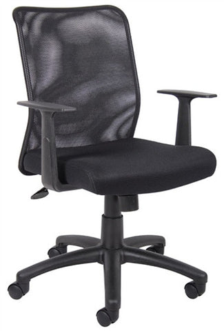 Black Mesh Executive Chair with Height Adjustment