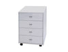 Premium White Lacquer Mobile 4 Drawer Storage Cabinet