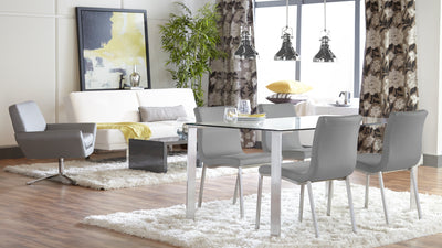Contemporary Comfortable Gray Guest or Conference Chair (Set of 2)