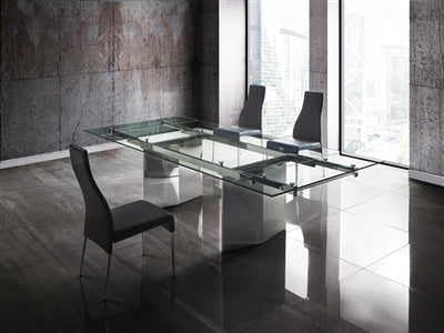 "78"" - 106"" Tempered Glass Extending Conference Table"
