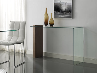 "47"" Narrow Glass Console Desk"