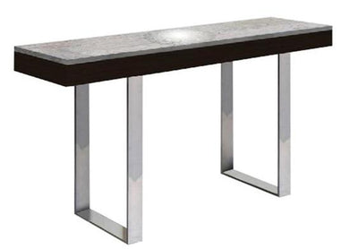 "55"" Gray Marble & Wenge Console Desk"