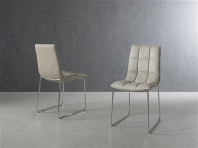 Checked Leatherette Gray Guest or Conference Chair (Set of 2)
