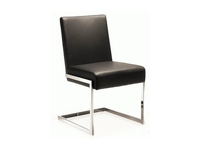 Modern Brown Eco-Leather Guest or Conference Chair (Set of 2)