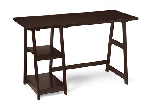 "47"" Modern Trestle Desk in Espresso Finish"