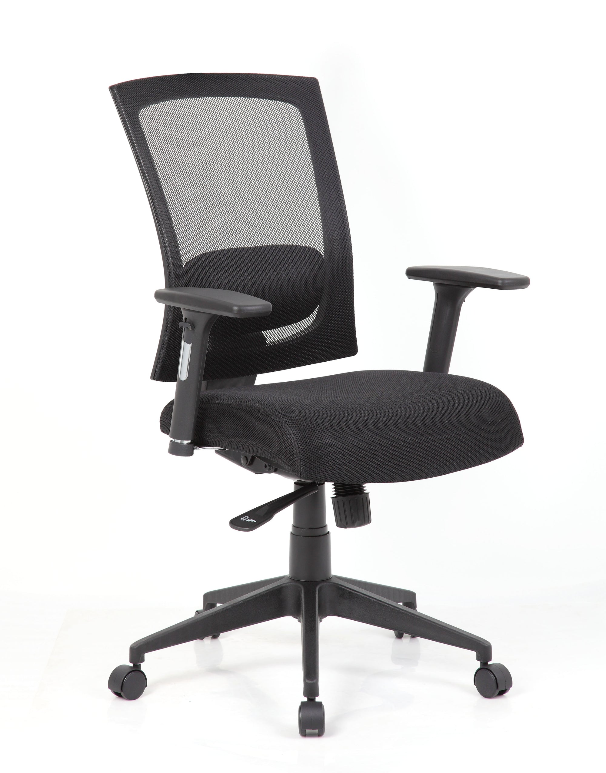 Cool Black Mesh Office Chair With Height Adjustable Armrests Home Interior And Landscaping Transignezvosmurscom