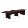 Premium 12' Mahogany Conference Table with Durable Beveled Edge