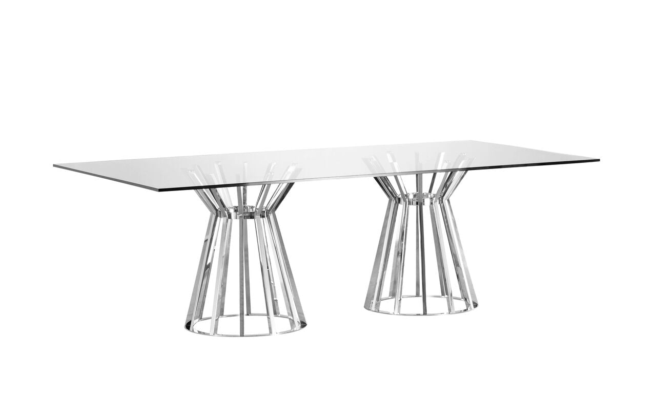 Classic DoublePedestal GlassTop Conference Table OfficeDeskcom - Pedestal conference table
