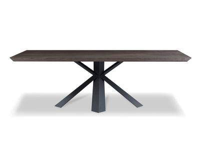 "95"" Gorgeous Washed Gray Oak Conference Table w/ Metal Legs"