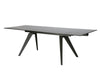 Sleek Black Conference Table with Glass Top and Steel Base