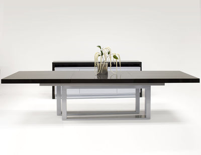 "85 - 125"" Primo Gray Oak Lacquer Conference Table with Unique Legs"