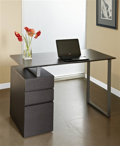 "Tribeca 48"" Modern Espresso Desk with Integrated Drawers"