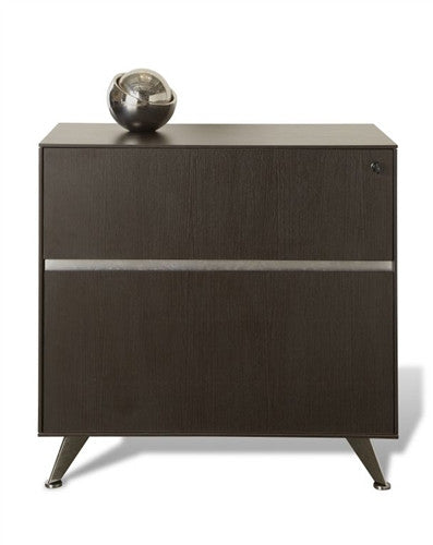 300Collection Modern Espresso L-shaped Desk with Integrated File