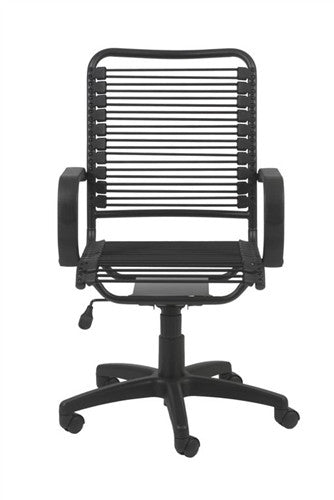 Bradley Collection Black Bungee Office Chair