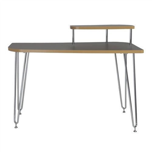 "Hanh Collection 48"" Modern Gray & Chrome Computer Desk"