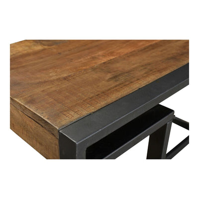 Modern Mango Wood and Black Iron Desk