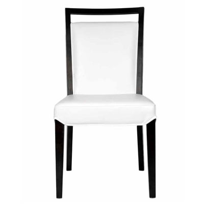 Classic White Leather Guest or Conference Chair (Set of 2)