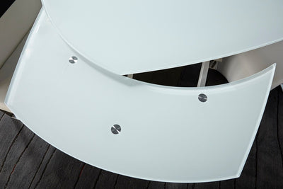 "47 - 71"" White Extension Meeting Table"