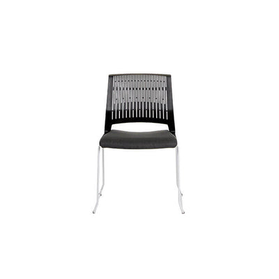 Modern Black Stackable Guest or Conference Chair
