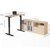 Northern Maple Office Desk with Adjustbale Height and Credenza