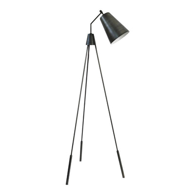 Silver Three-Legged Floor Lamp
