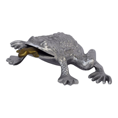 Shining Silver Frog Office Decoration